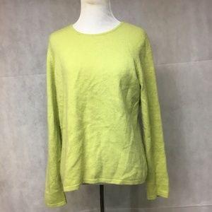 Sweater Cashmere Medium Green Charter Club 2ply ..